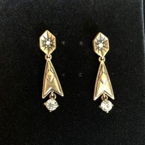 J. Crew Gold and Crystal Earring
